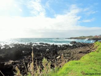 Costa dell'isola di Rapa Nui