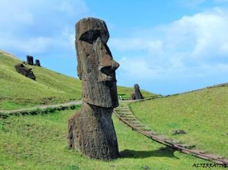 Moai presso Rano Raraku (Cava dei Moai)