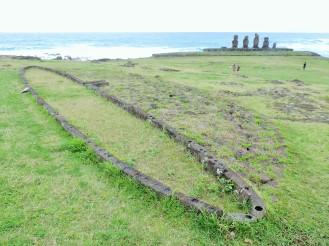 Casa-botte dove vivevano i primi abitanti di Rapa Nui